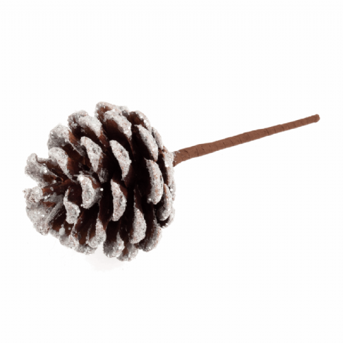 Pick Pinecone Snow Frosted 12 x 1 Stick